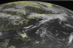 Radar shows storm systems over the United States