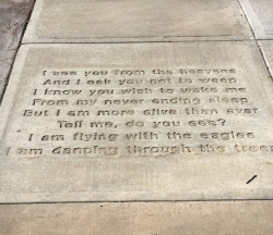 Maria Thomson poem on Appleton sidewalk