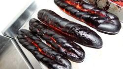 Burned garlic bread