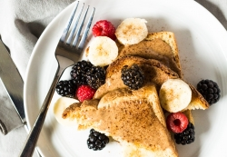 California Toast with Roasted Almond Butter and Berries