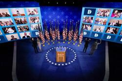 Joe and Jill Biden and Kamala Harris and Doug Emhoff at the Democratic National Convention
