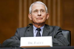 Dr. Anthony Fauci testifies before a Senate committee on May 11, 2021.