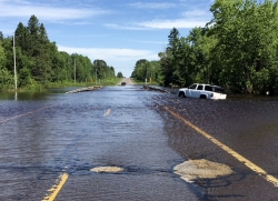 Flash flooding along Wisconsin Highway 35