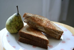Grilled cheese and pear sandwich