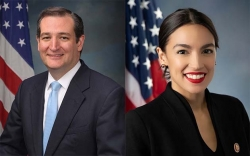 Senator Ted Cruz and Representative Alexandria Ocasio-Cortez