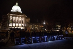 Protesters at Wisconsin capitol