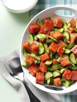 Minty watermelon salad, taste of home
