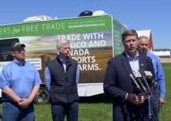 U.S. Rep. Ron Kind speaks at a Bangor, Wisconsin farm