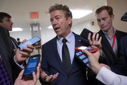 Sen. Rand Paul speaks to reporters