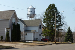 A street in Rice Lake, Wis.
