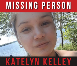 Part of a flyer for Katelyn Kelley, who hasbeen missing since June 17.