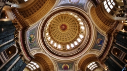 Wisconsin capitol interior dome