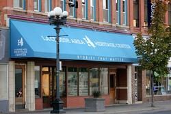 The New La Crosse Area Heritage Center museum front on Main Street, downtown La Crosse