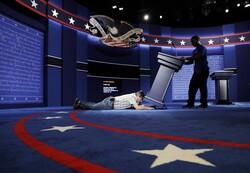 Workers preparing for debate in 2016 presidential election