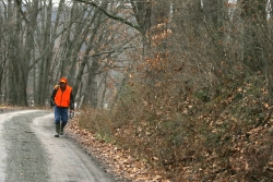 Person deer hunting
