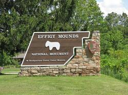 Effigy Mounds National Monument sign