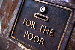 Donation box for the poor