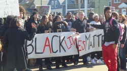 protest in Madison on Monday