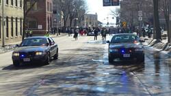 Madison police escort a Black Lives Matter protest