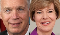 Sens. Ron Johnson and Tammy Baldwin