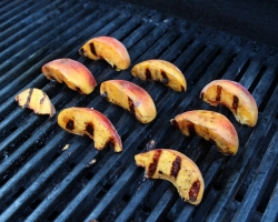 grilled peaches, woodleywonderworks
