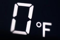 Zero degrees Fahrenheit