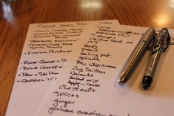 Writing a list for meal planning can help reduce waste.