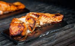 Cedar Plank Grilled Salmon.