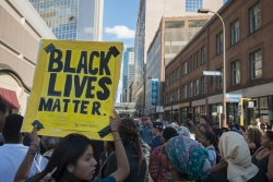 Black Lives Matter rally in Minneapolis