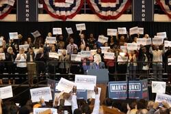 Mary Burke rally