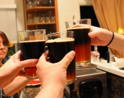 Hands with beers