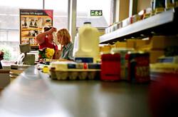 Supermarket checkout lane
