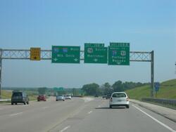 The Interstate 39-90-94 interchange in Portage