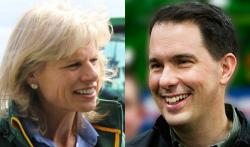 Mary Burke and Scott Walker