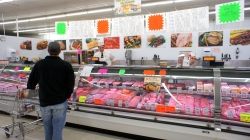 Meat counter at the grocery store