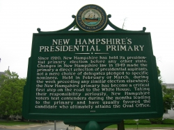 New Hampshire presidential primary marker