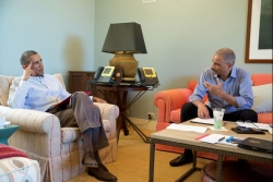 President Obama and Eric Holder in Martha's Vineyard