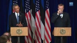 President Obama and Estonia President Ilves