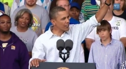 President Obama at Milwaukee's Laborfest in 2010