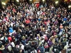 Student protest Wisconsin Capitol