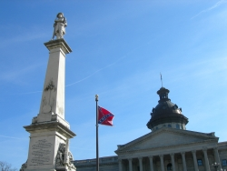 Confederate flag flying at South Carolina state capitol building