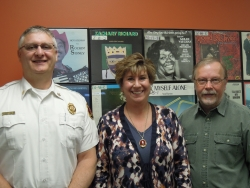 La Crosse Fire Chief Gregg Cleveland, Wisconsin state Senate Minority Leader Jennifer Shilling, CARS Member Alan Stankevitz