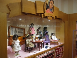 American Girl store display of the Addy Walker dolls