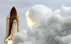 Space shuttle Atlantis lifts off in May 2009