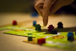 someone plays a tabletop board game