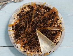 Frozen chocolate peanut butter layered pie