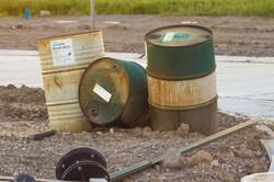 old chemical barrels