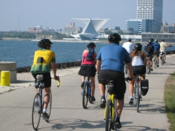Bicyclists in Milwaukee