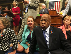 Democrats protest on the House floor