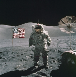 NASA Apollo 17 Space Mission - Astronaut on the Moon